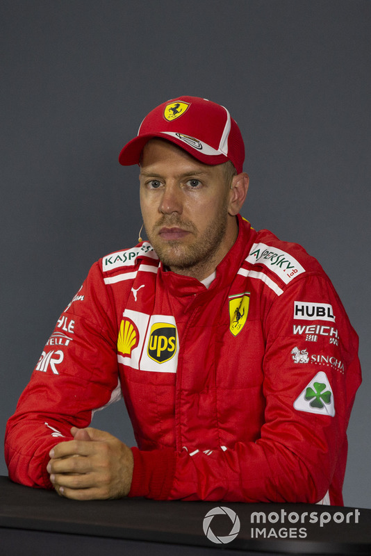 Sebastian Vettel, Ferrari, in conferenza stampa