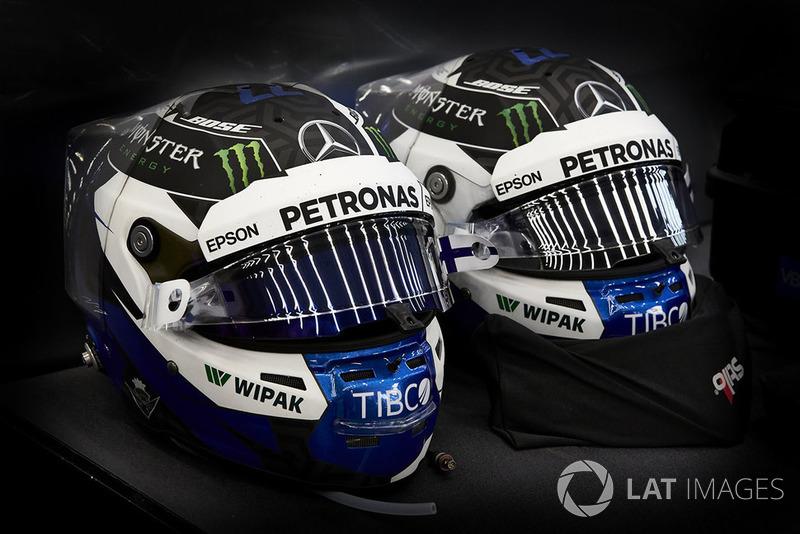 Cascos de Valtteri Bottas, Mercedes AMG F1