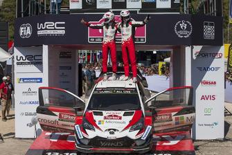 Winnaars Ott Tänak, Martin Järveoja, Toyota Gazoo Racing WRT Toyota Yaris WRC
