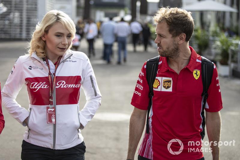 Ruth Buscombe, estratega de carrera de Sauber y Sebastian Vettel, Ferrari