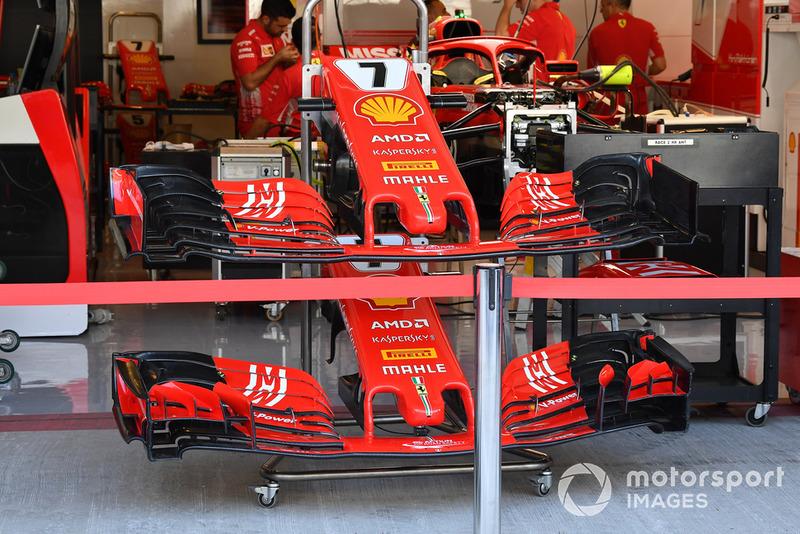 Сравнение вариантов переднего крыла Ferrari SF71H