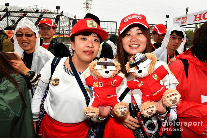Ferrari fans and teddy bears