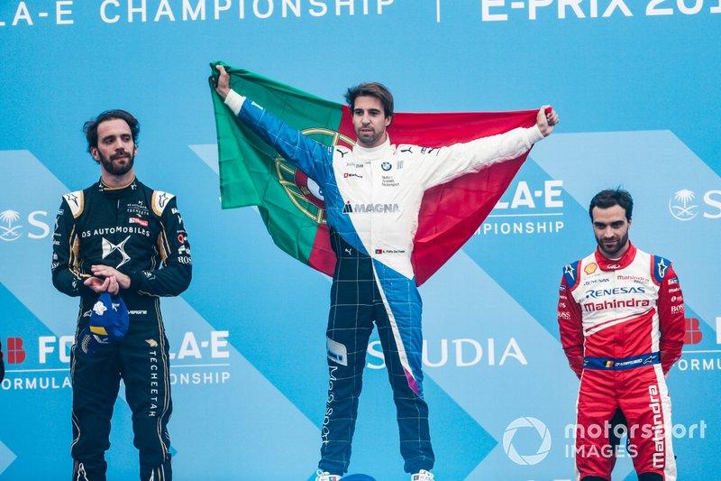 Podio: ganador, Antonio Felix da Costa, BMW I Andretti Motorsports, segundo, Jean-Eric Vergne, DS TECHEETAH, tercero, Jérôme d'Ambrosio, Mahindra Racing