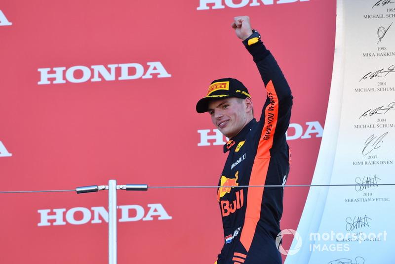 Третє місце Макс Ферстаппен, , Red Bull Racing, на подіумі