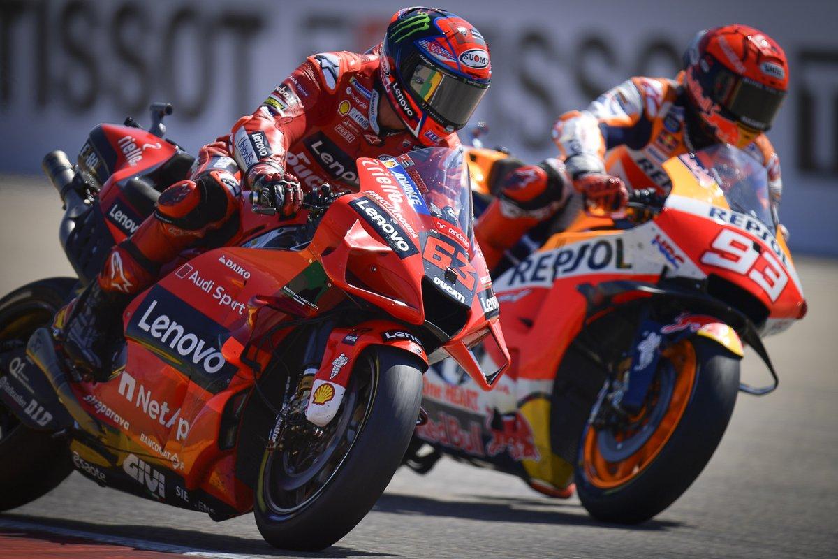 Francesco Bagnaia, Ducati Team, Marc Marquez, Repsol Honda Team