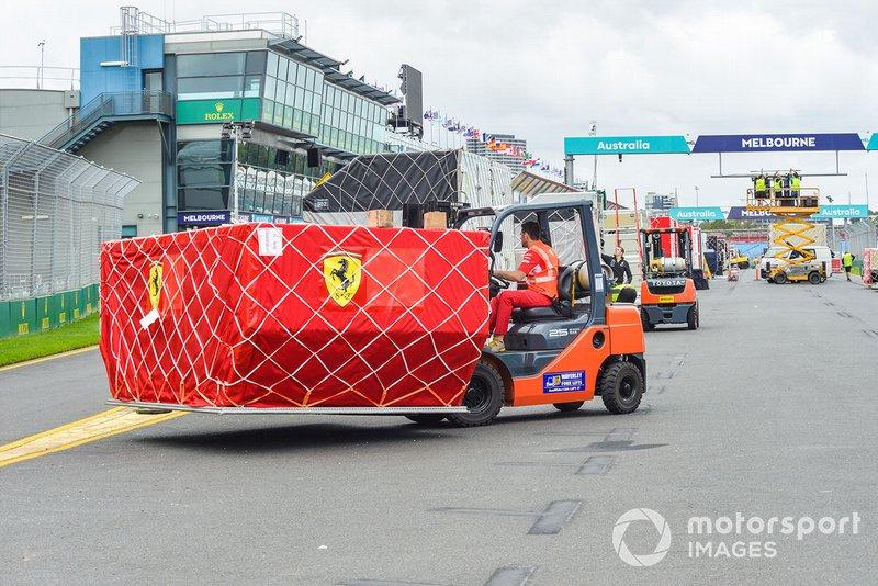 Set up in progress for Grand Prix in Melbourne