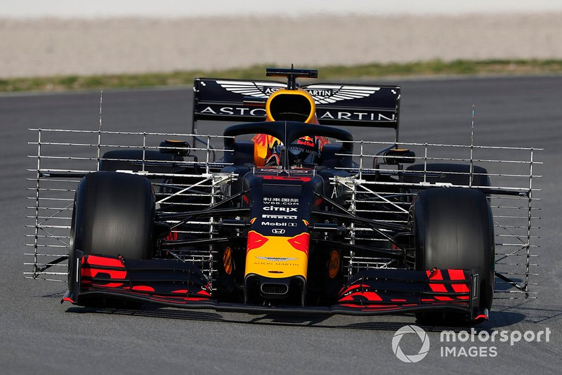 El Red Bull Racing RB15 con sensores aerodinámicos