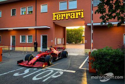 Leclerc at the Ferrari SF1000