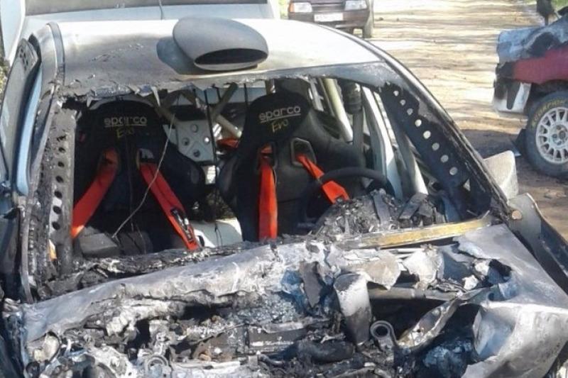 Авария Лукьянюка и Кучерова на тестах в Псковской области