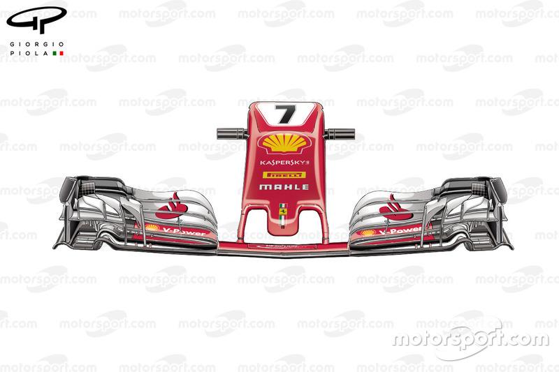 Ferrari SF70H old nose
