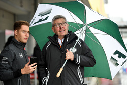 Stoffel Vandoorne, McLaren and Ross Brawn, Motor Sports Formula One Managing Director
