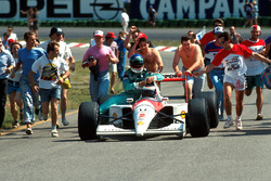 Gerhard Berger, McLaren MP4/6, Ivan Capelli