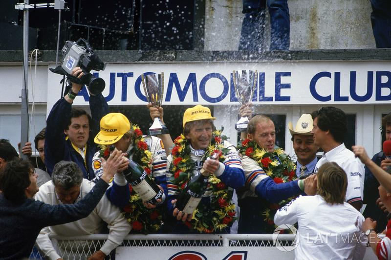 1. Hans-Joachim Stuck, Derek Bell, Al Holbert, Porsche 962
