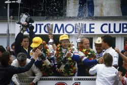 Podium: Hans-Joachim Stuck, Derek Bell, Al Holbert, Porsche 962