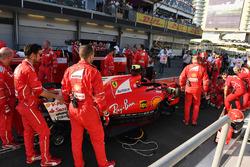 El coche de Sebastian Vettel, Ferrari SF70H