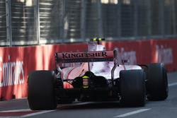 Эстебан Окон, Sahara Force India F1 VJM10: повреждение задней подвески