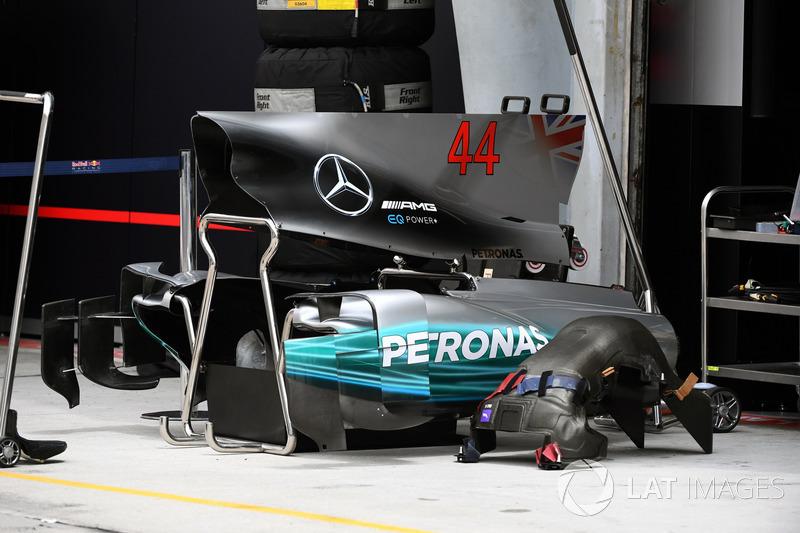 Carrocería y cubierta motor del Mercedes-Benz F1 W08