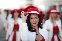 Chicas promocionan el GP de Rusia