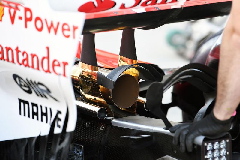 Ferrari SF70H exhaust