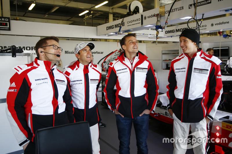 Andreas Seidl, Team principal Porsche Team LMP, Timo Bernhard, Earl Bamber, Brendon Hartley, Porsche Team
