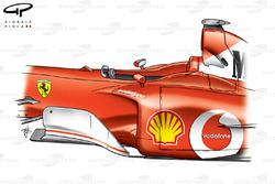 Ferrari F2002 (653) 2002 bargeboard and sidepod view