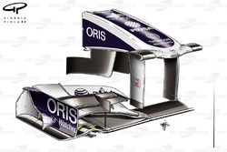 Williams FW33 front wing, British GP