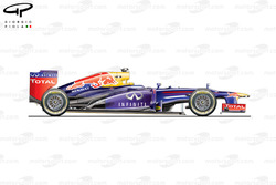 Red Bull RB9 side view, Brazilian GP