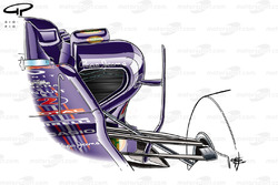 Red Bull RB7 side pods, Belgian GP