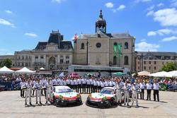 #92 Porsche Team Porsche 911 RSR: Michael Christensen, Kevin Estre, Dirk Werner, #91 Porsche Team Porsche 911 RSR: Richard Lietz, Frédéric Makowiecki, Patrick Pilet