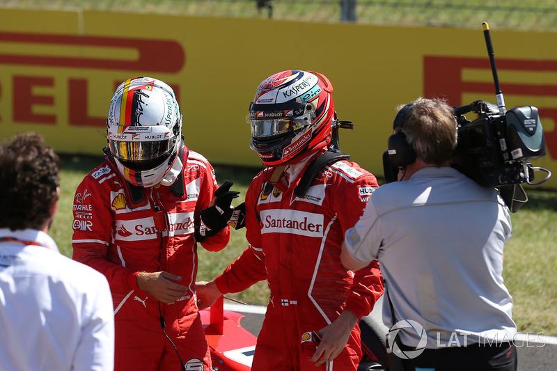 Володар поул-позиції Себастьян Феттель, Ferrari, друге місце Кімі Райкконен, Ferrari
