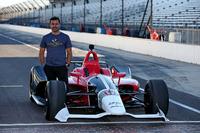 Oriol Servia with the 2018 Honda IndyCar
