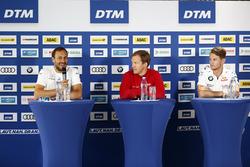 Гері Паффетт, Mercedes-AMG Team HWA, Mercedes-AMG C63 DTM, Маттіас Екстрьом, Audi Sport Team Abt Sportsline, Audi A5 DTM, Марко Віттман, BMW Team RMG, BMW M4 DTM на прес-конференції