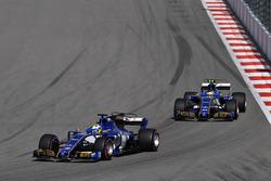Marcus Ericsson, Sauber C36; Pascal Wehrlein, Sauber C36