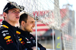 Max Verstappen, Red Bull Racing con Gianpiero Lambiase, Red Bull Racing ingeniero