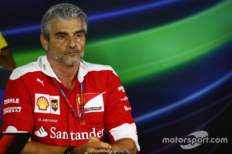 Maurizio Arrivabene, Ferrari Team Principal in the FIA Press Conference