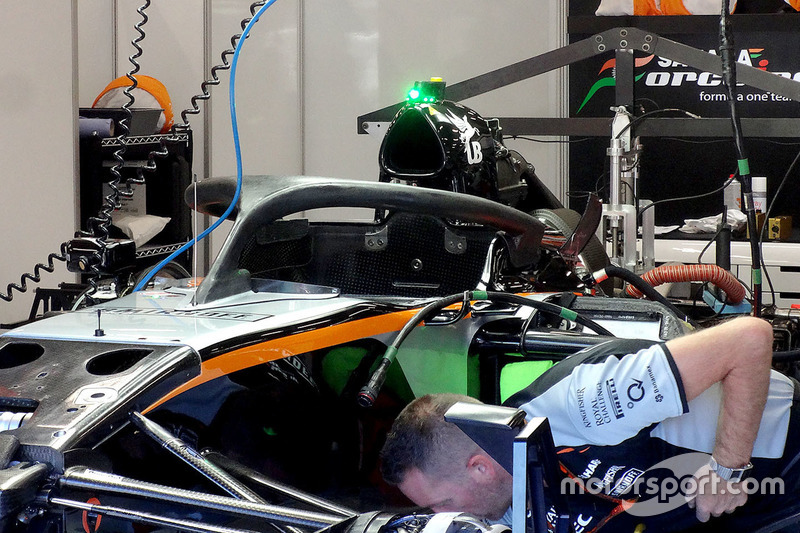 Force India F1 VJM09: montato l'Halo