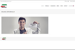 Captura de pantalla web Sergio Pérez anuncio Renault 2016