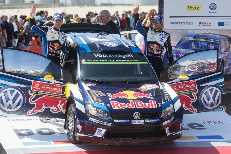Segundo lugar Andreas Mikkelsen, Anders Jäger, Volkswagen Polo WRC, Volkswagen Motorsport
