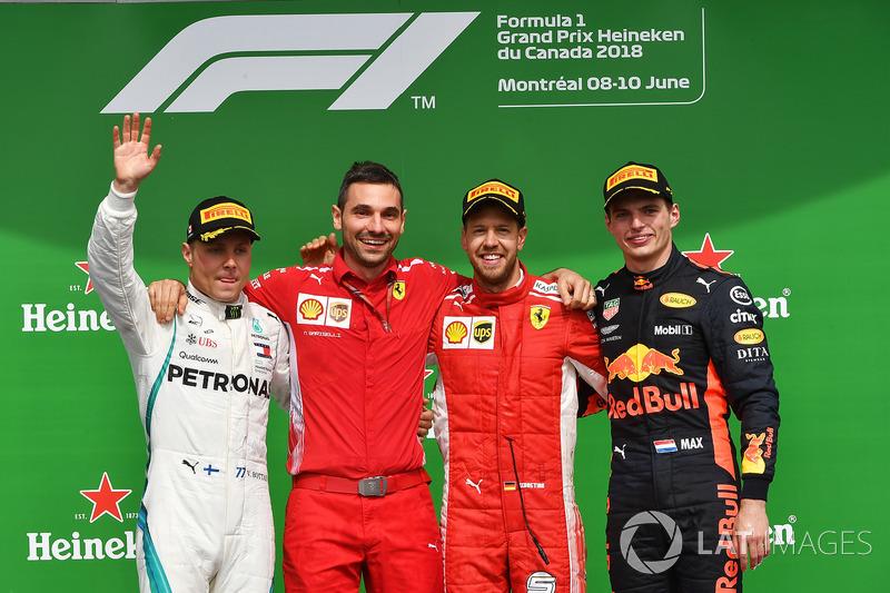 GP de Canadá: 1º Vettel, 2º Bottas, 3º Verstappen