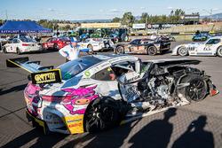 #19 Nineteen Corp P/L Mercedes AMG GT3: David Reynolds, John Martin, Liam Talbot, Mark Griffith after the crash