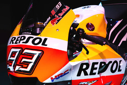 Detalle de la moto de Marc Márquez, Repsol Honda Team