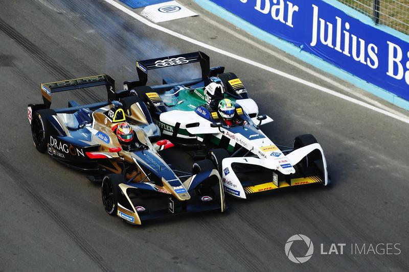Боротьба Жана-Еріка Верня (Techeetah) і Лукаса ді Грассі (Audi Sport ABT Schaeffler)