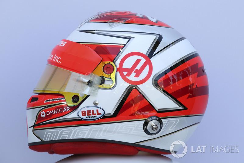 Le casque de Kevin Magnussen, Haas F1