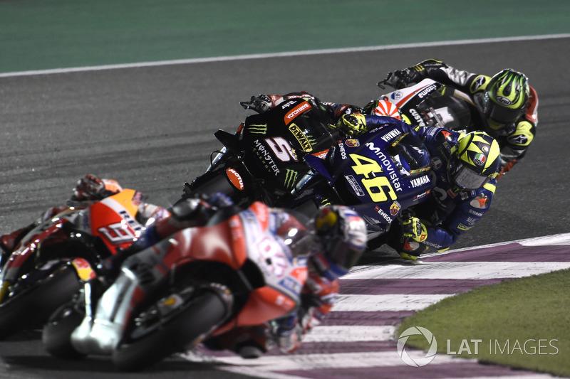 Rossi overtakes Johann Zarco, Monster Yamaha Tech 3