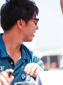 Kamui Kobayashi, Andretti Formula E, at the autograph signing session