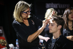 Charles Leclerc, Sauber in make up at Amber Lounge Fasion Show