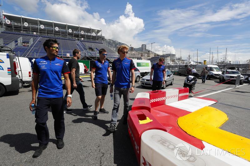 Brendon Hartley, Toro Rosso lors de la reconnaissance de piste