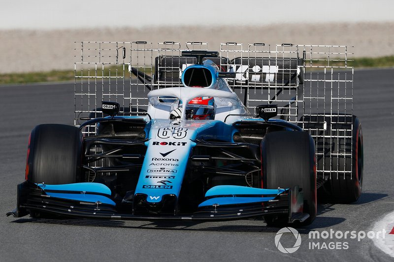 El Williams FW42 con sensores aerodinámicos