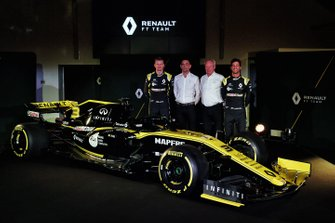 Daniel Ricciardo, Renault Sport F1 Team, Nico Hulkenberg, Renault Sport F1 Team, Cyril Abiteboul, Renault Sport F1 Managing Director, Jerome Stroll, Renault Sport F1 President