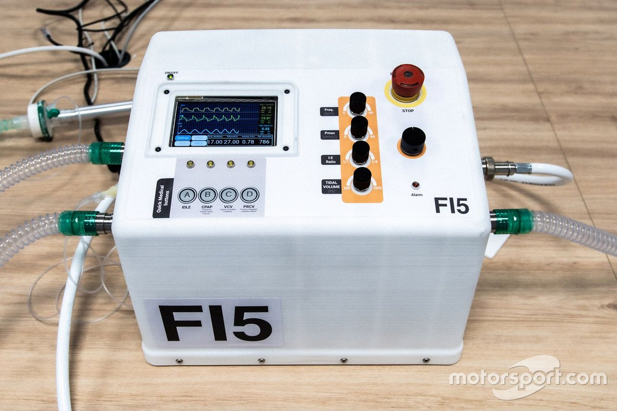 Formula 1 life-saving breathing aids